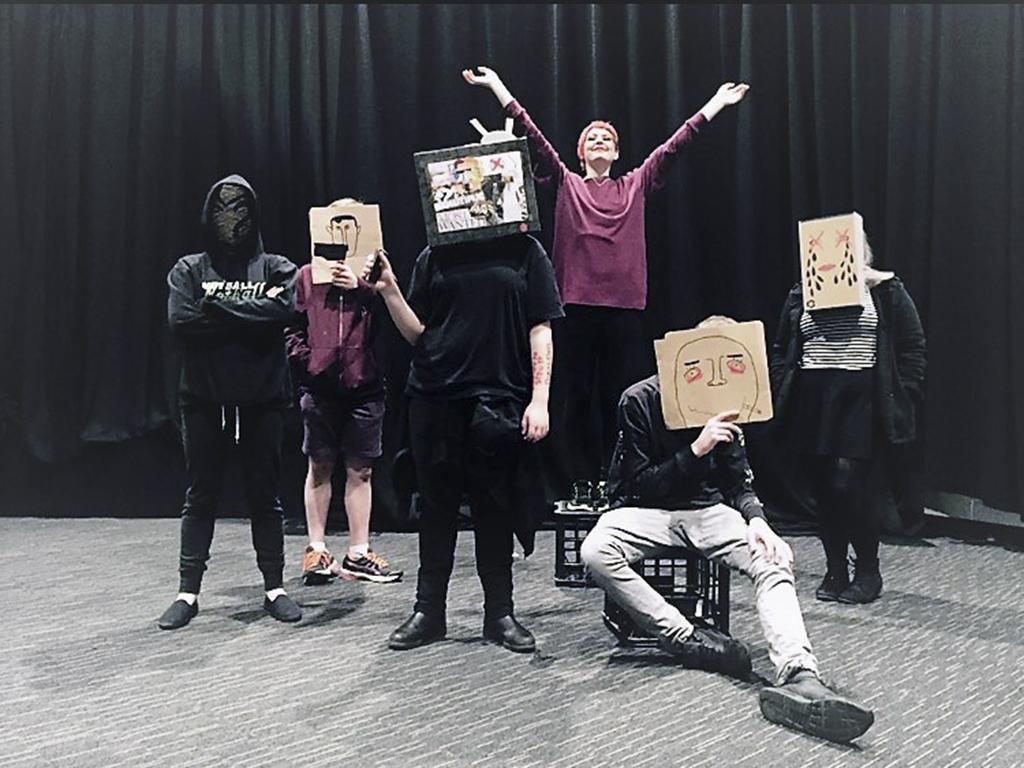 student actors at CLC