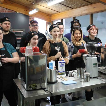 Brewing our newest NASCafe baristas